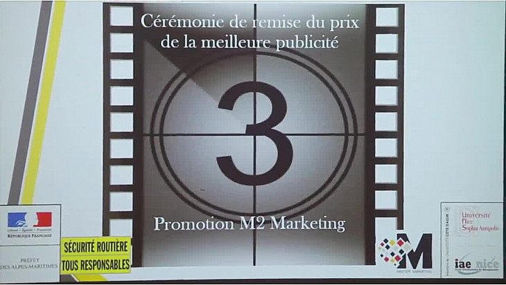 Remise de prix du Concours de publicité Sécurité Routière à l'IAE de Nice @IEA_Nice